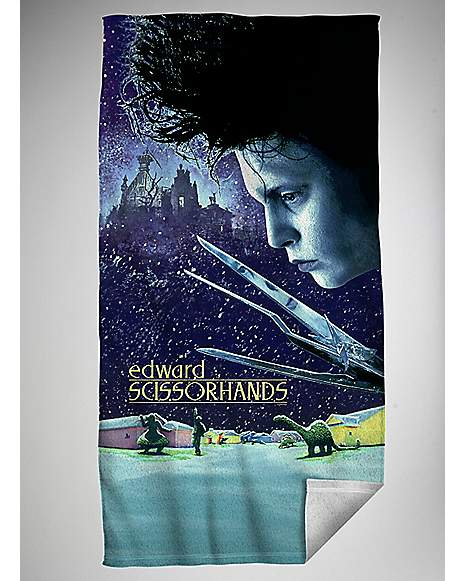 edward scissorhands poster bath towel spencer 39 s