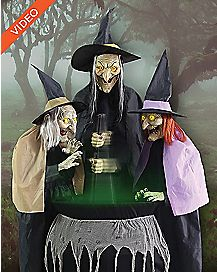 5 Ft Stitch Witch Sisters Animatronics - Decorations