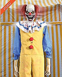 6 Ft Twitching Clown Animatronics -  Decorations