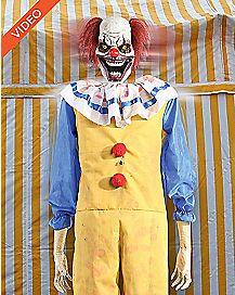 6 Ft Twitching Clown Animatronics -  Decorations