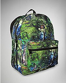 Print Photo Real Forest Backpack