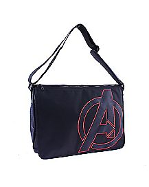 Black Comic Avengers Reversible Messenger Bag