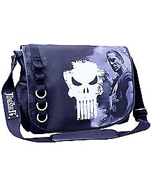 Black Punisher Messenger Bag