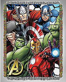 Best Team The Avengers Throw Blanket