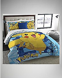 Twin/Full Big Pikachu Comforter & Sham Set - Pokemon