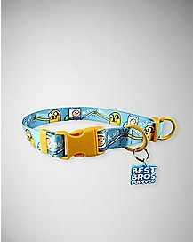 Best Bros Forever Adventure Time Dog Collar
