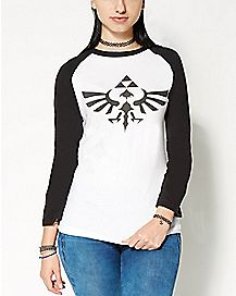 Triumphant Triforce Zelda Raglan T Shirt