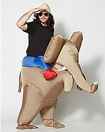 Adult Ride Elephant Inflatable Costume