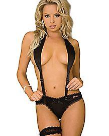 Sexy Suspender and Thong Panties Set - Hustler