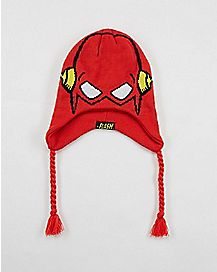 Flash DC Comics Knit Laplander Hat