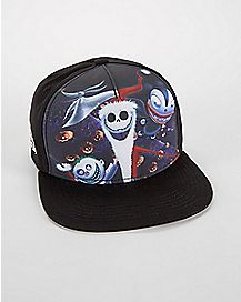 Sublimated Nightmare Before Christmas Snapback Hat