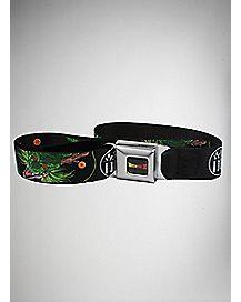 Stretch Dragonball Z Dragon Seatbelt Belt Black
