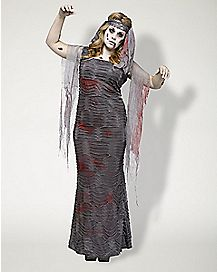 Adult Zombie Mummy Plus Size Costume - Deluxe
