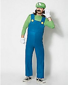 Adult Luigi Costume - Mario Bros