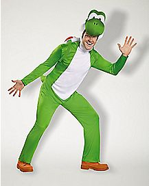 Adult Yoshi Plus Size One Piece Costume - Mario Bros