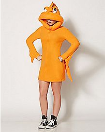 adult cozy dress goldfish costume
