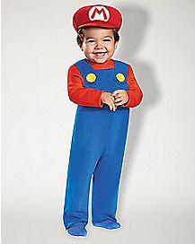 Baby Mario One Piece Costume - Mario Bros