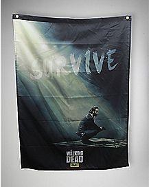 Survive The Walking Dead Banner - 38 x 29