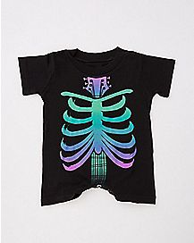 Mini Skeleton Baby Romper