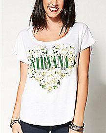 Floral Heart Nirvana Dolman T shirt