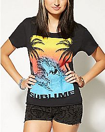 Sunset Wave Sublime T shirt