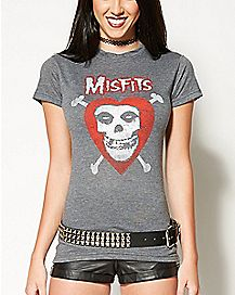 Heart with Bones Misfits T shirt