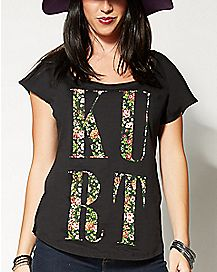 Floral Letters Dolman Kurt Cobain T Shirt