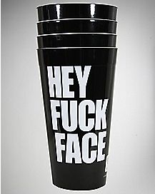 Hey Fuck Face Cup Set 22 oz