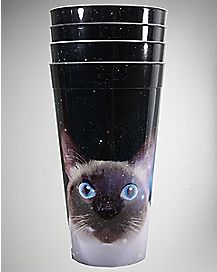 Staring Cat Galaxy Cups Set 22 oz