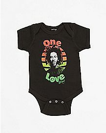 One Love Bob Marley Baby Bodysuit