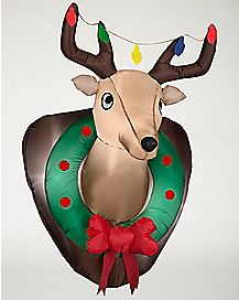 3.5 Ft Mounted Deer Head Inflatable - Decoration