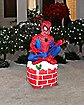 3.5 Ft Spiderman Chimney Inflatable - Decoration