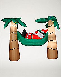 6 Ft Santa in a Hammock Inflatable - Decoration