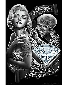 Diamonds Are Forever DGA Poster- Marilyn