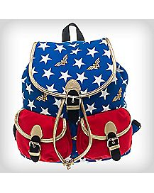Gold Trim Star Wonder Woman Knapsack