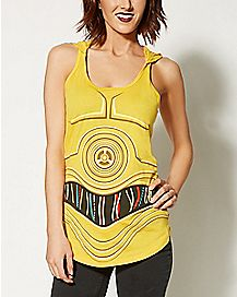 Hooded C3PO Star Wars Tank Top