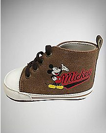 High Top Mickey Mouse Baby Shoes - Disney