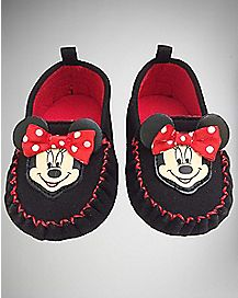 Minnie Mouse Moccasin  Disney Baby Slippers