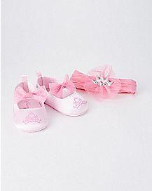 Infant Princess Headband and Shoe Set