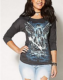 Got Wings Jimi Hendrix Raglan T shirt