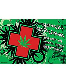 Medical Marijuana Feel Better Blacklight Poster