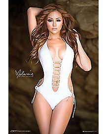 White Melanie Iglesias Poster