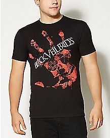 Black Veil Brides Handprint T shirt