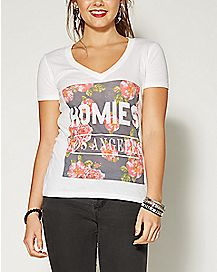 Homies Los Angeles Floral T shirt