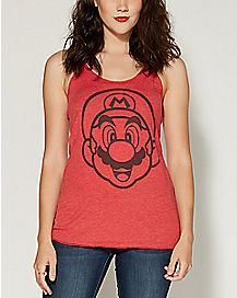 Face It Mario Nintendo Tank Top