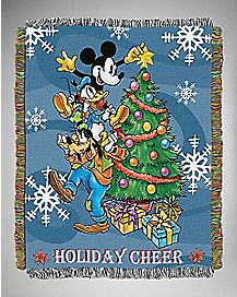 Holiday Cheer Mickey Mouse Tapestry Throw Blanket
