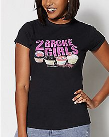 2 Broke Girls Cupcakes T Shirt