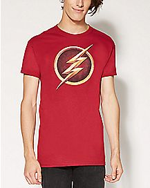 Logo Chest TV Series Flash T shirt