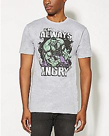 I'm Always Angry Hulk T Shirt - Marvel Comics