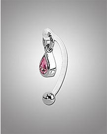 14 Gauge Pink Teardrop Intimate Ring